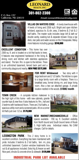 Houses Available