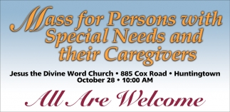 Mass for Person with Special Needs