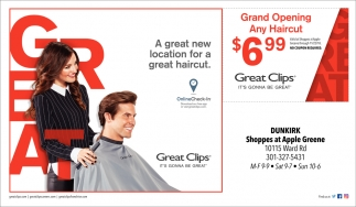 Grand Opening Any Haircut Great Clips Denton Md