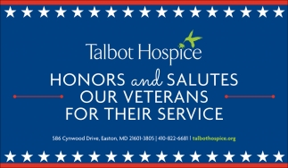 Honors and Salutesour Veterans for their Service