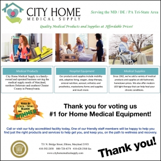 #1 for Home Medical Equiment
