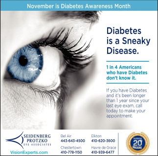 Diabetes is a Sneaky Disease
