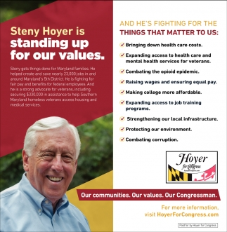 Steny Hoyer is Standing Up for Our Values