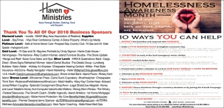 Homelessness Awareness Month