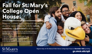 Fall for St. Mary's College Open House