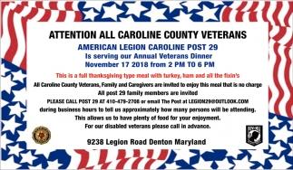 All Caroline County Veterans