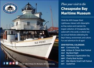2019 Festival Calendar, Chesapeake Bay Maritime Museum, St Michaels, MD