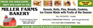 Donuts, Rolls, Pies, Breads, Cookies.