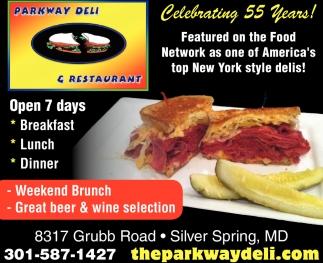 Celebrating 55 Years Parkway Deli Restaurant Silver Sp