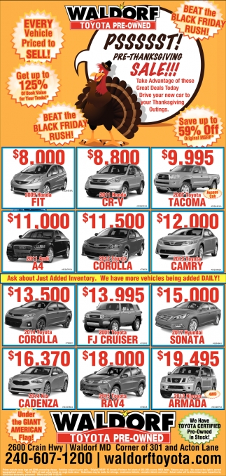 Every Vehicle Priced to Sell