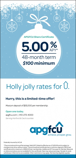 Holly Jolly rates for U