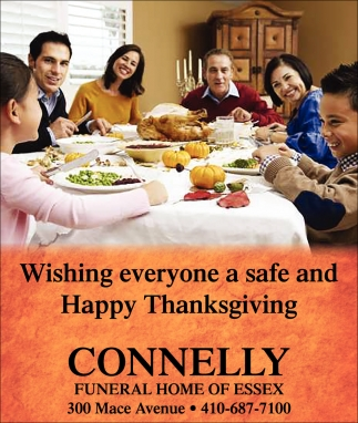 Wishing Everyone a Safe and Happy Thanksgiving