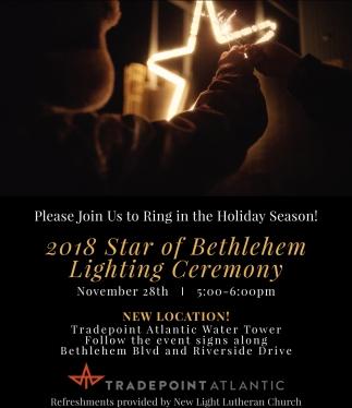 2018 Star of Bethlehem Lighting Ceremony