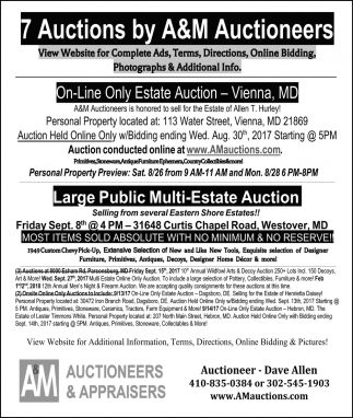 7 Auctions By A And M Auctioneers Am Auctioneers And Appraisers