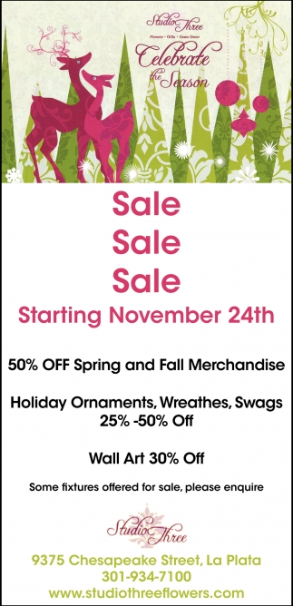 50% OFF Spring and Fall Merchandise