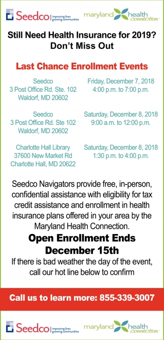 Last Chance Enrollment Events
