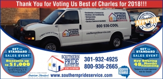 Thank you for Voting Us Bestof Charles for 2018