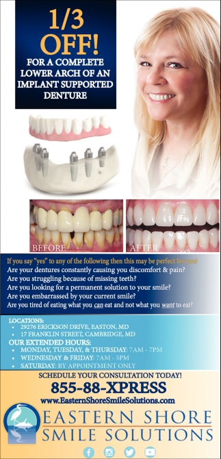 1/3 Off! for a Complete Lower Arch of an Implant Supported Denture