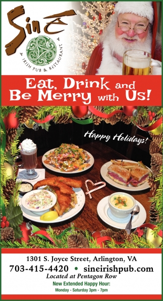 Eat, Drink and Be Merry with Us!