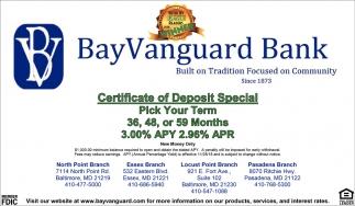 Certified of Deposit Special