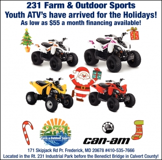 Youth ATV's Have Arrived for the Holidays!