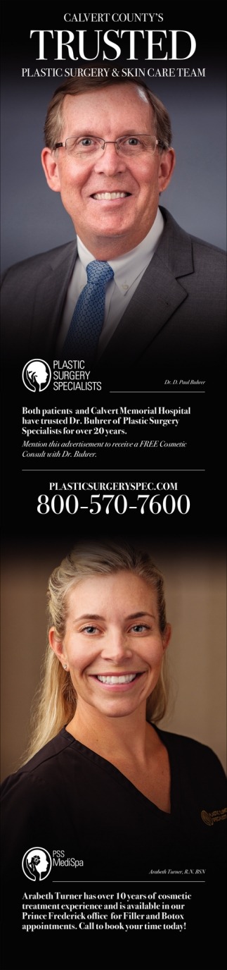 Calvert County Trusted Plastic Surgery &Skin Care Team