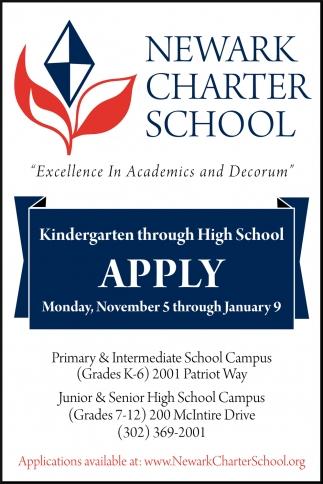 Kindergarten through High School Apply