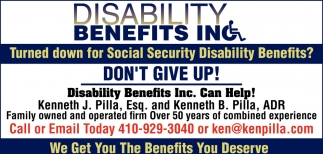 Turned Down for Social Security Disability Benefits?