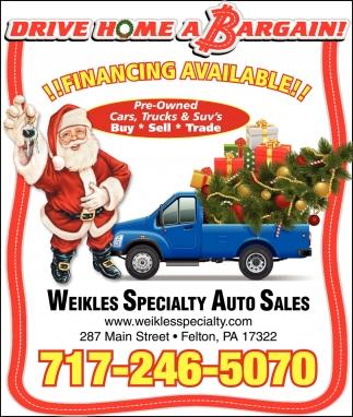 Drive Home a Bargain!