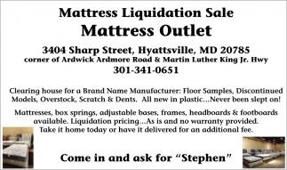 Mattress Liquidation Sale