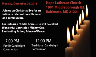 Join us for Christmas Eve