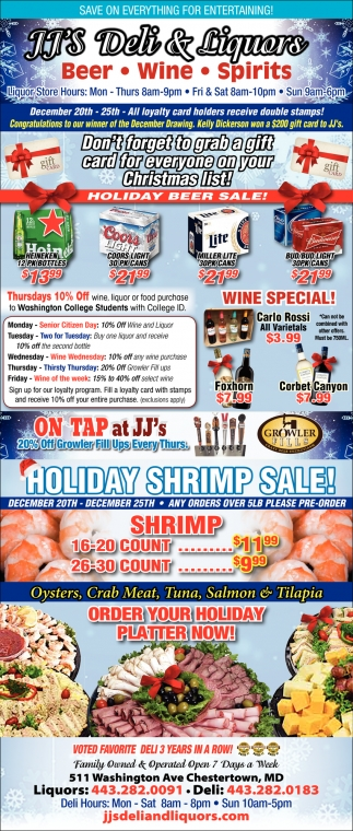 Holiday Beer Sale