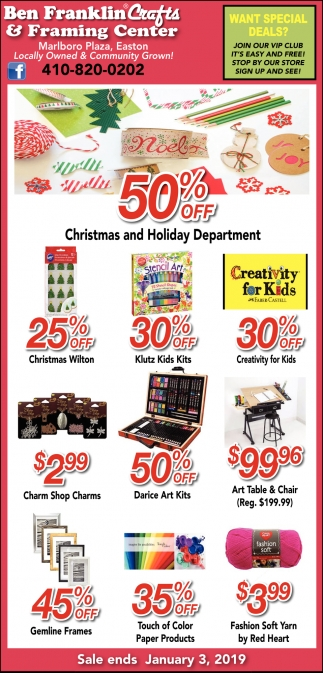 50% OFF Christmas and Holiday Department