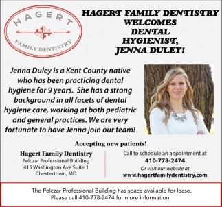 Welcome Dental Hygienist, Jenna Duley!