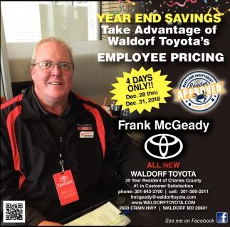 Year End Savings
