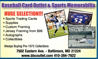 Huge Selection Baseball Card Outlet Sports Memorabilia