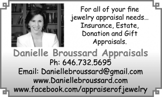 For All Your Fine Jewelry Appraisal Needs
