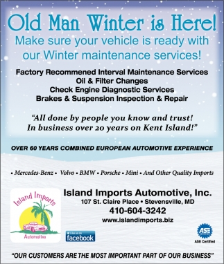 Old Man Winter is Here!