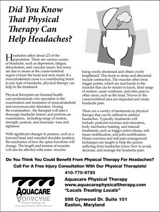 Did You Know That Physical Therapy Can Help Headaches