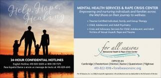 Mental Health Services & Rape Crisis Center