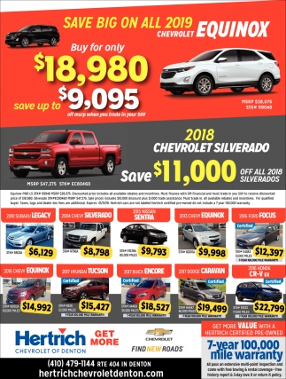 Save Big on All 2019 Chevrolet Equinox