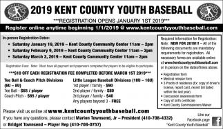 Registration Opens January 1st 2019