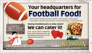 Your Headquarters for Football Food