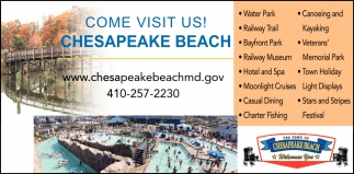 Come Visit Us Town Of Chesapeake Beach Md