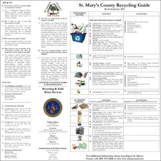 St. Mary's County Recycling Guide