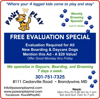 Free Evaluation Special