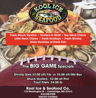 The Big Game Specials