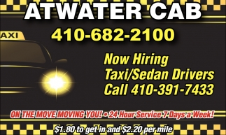 Now Hiring Taxi/Sedan Drivers