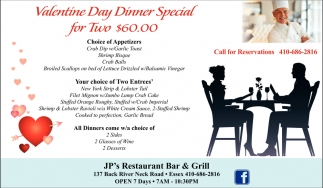 Valentine Day Dinner Special