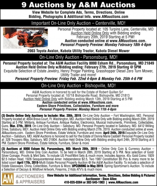 9 Auctions by A&M Auctions